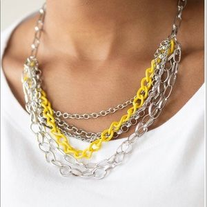 Color Bomb - Yellow Necklace